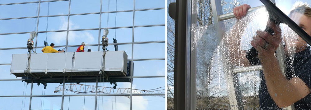 Experience of glass cleaning